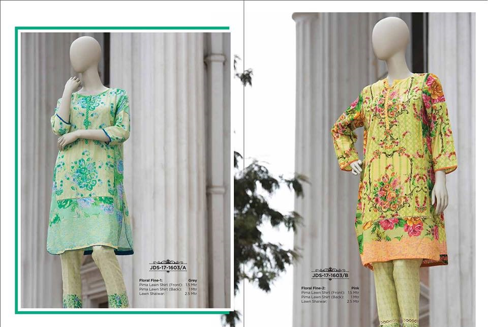 light green and yellow Prima lawn shirt with lawn shalwar