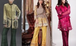 Pakistani Dresses with Bell Bottom Trousers 2017-2018 Trends