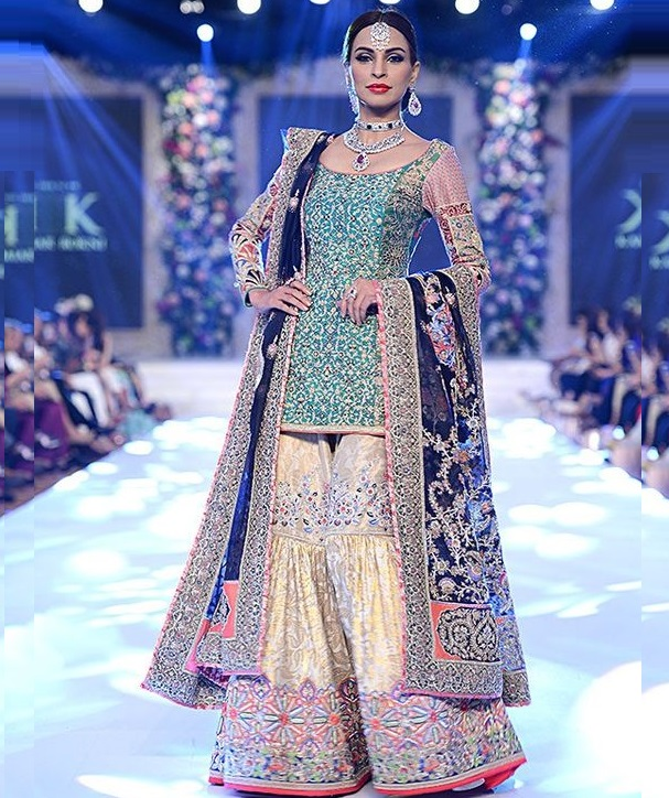 Pearl Studded Sharara with dabka, zari and zardozi work