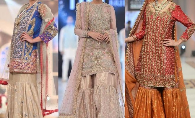 Mehndi Party Dresses 2018 : Sharara pants designs new fashion trend in pakistan