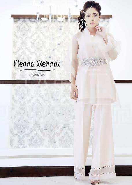 Henna Mehndi Simple Formal Dress with Shimmery Waist Belt