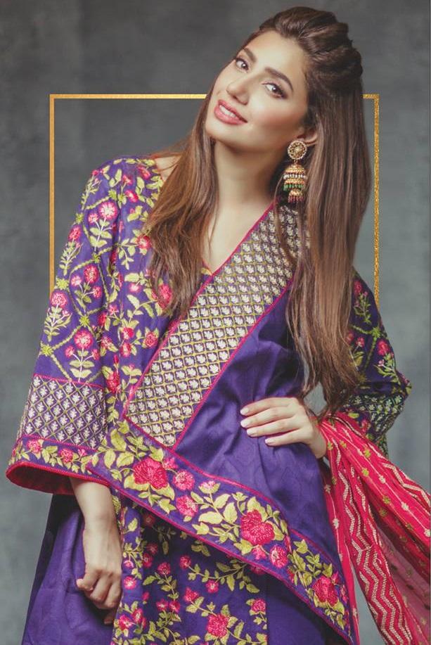 Mahira Khan wearing Alkaram Eid Lawn
