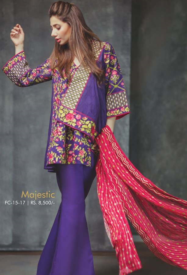 Majestic Royal Purple Silk Outfit for Eid By Alkaram