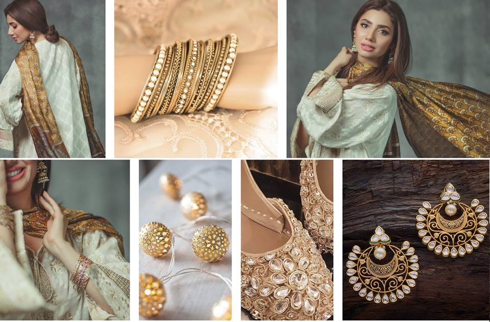 Mahira Khan shining in the Alkaram Eid Collection 2017-2018