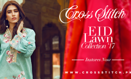 Cross Stitch Elegant Eid Dresses Latest Collection 2017 Catalogue