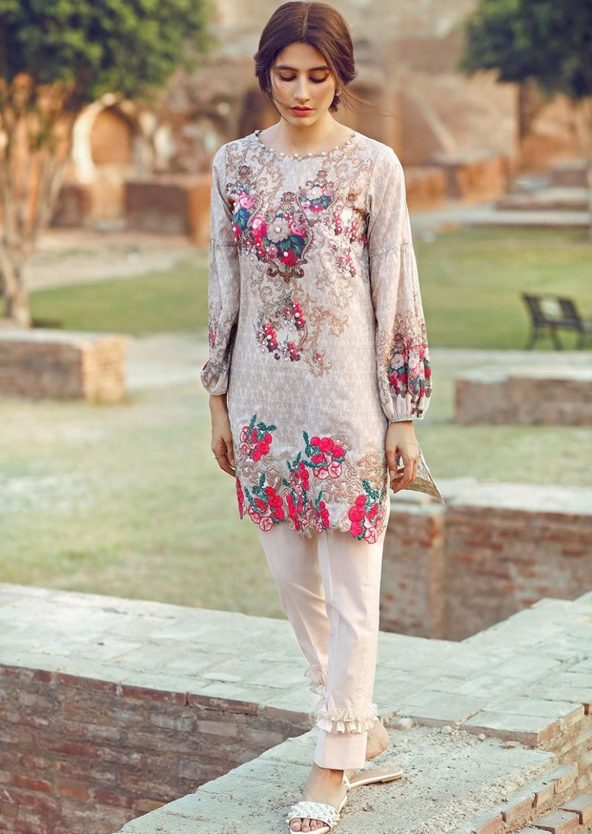 Cross Stitch Pima cotton lawn Eid suit with digital print
