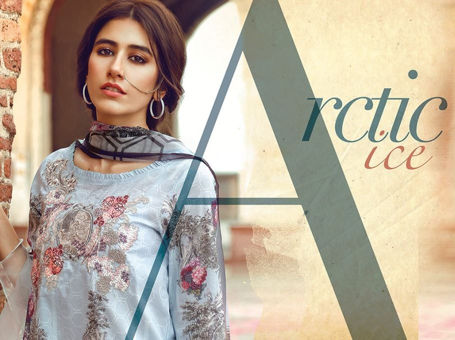 Syra Shehroz wearing beautiful Cross Stitch Eid Lawn dress