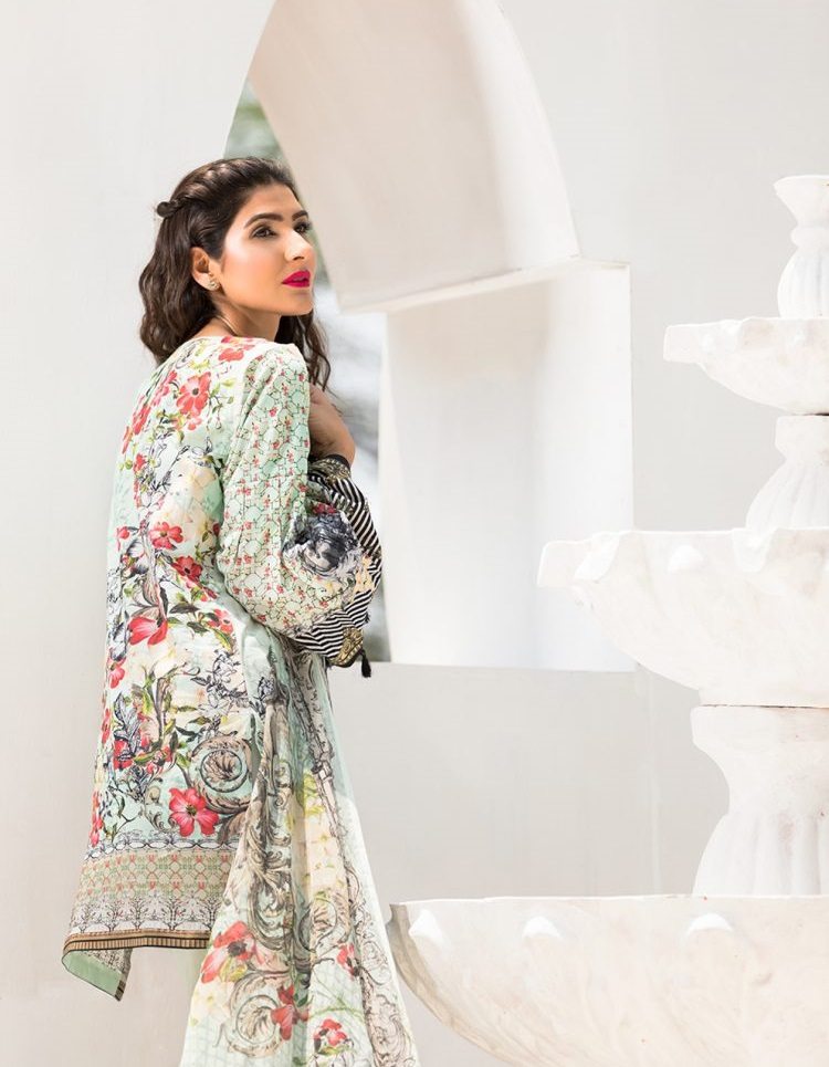 Digital printed eid outfit with Pure Chiffon Digital Print Dupatta