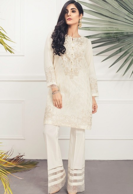 Mausummery PERSIAN DAY Kurta with Boat Neckline
