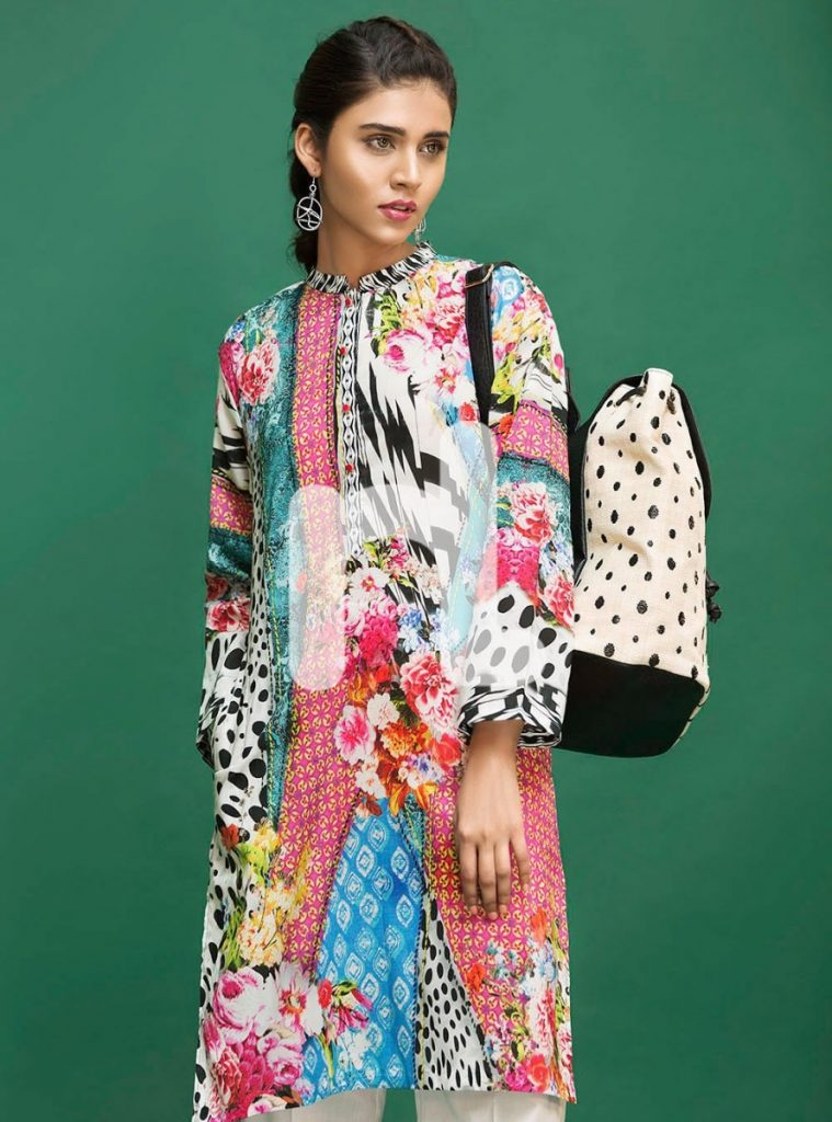 digital printed stitched lawn shirt