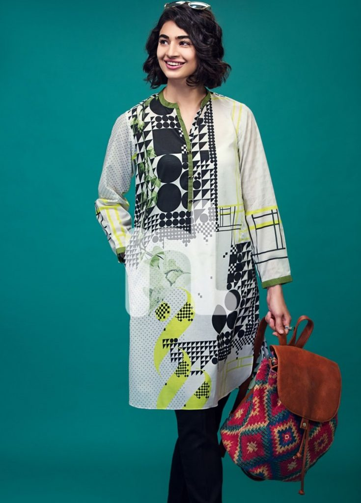 Ready made lawn outfit by Nishat