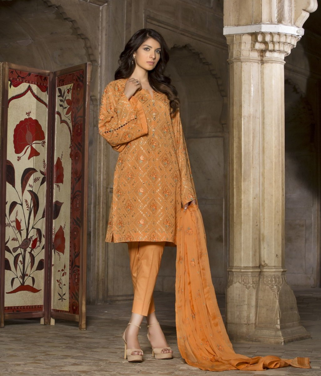 Swiss Lawn Wings Of The Flower Fully Embroidered Eid Suit