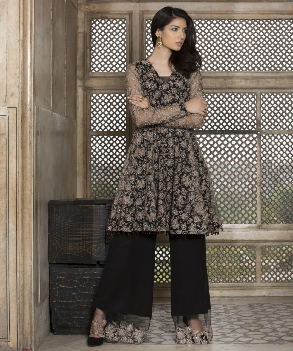 Polyester Net Fancy Work Classic Eid suit by Bareeze
