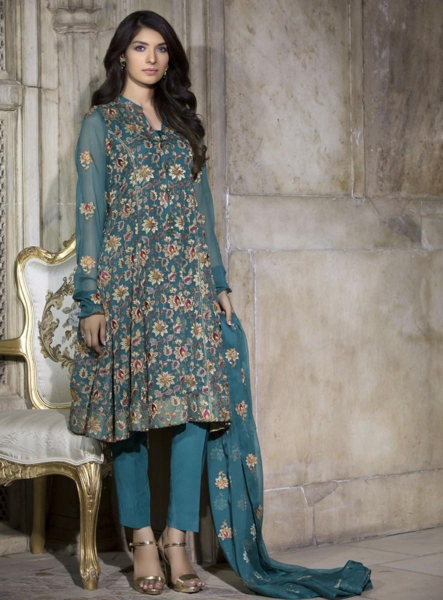 Bareeze Embroidered Chiffon Self Mughal Brocade Festive Eid Dress