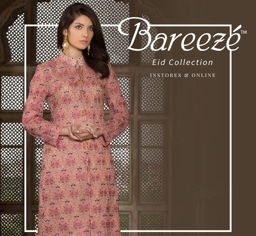 Bareeze Fancy Eid Dress 2017 Design