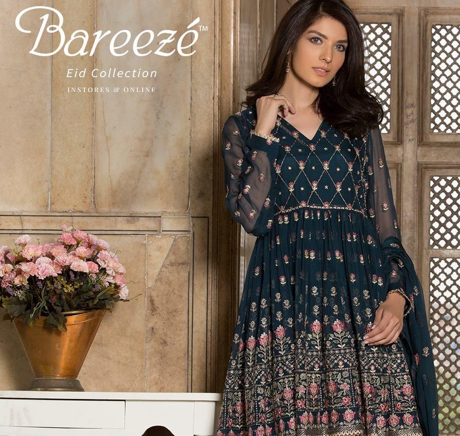 Bareeze Luxury Eid Dresses 2017-2018