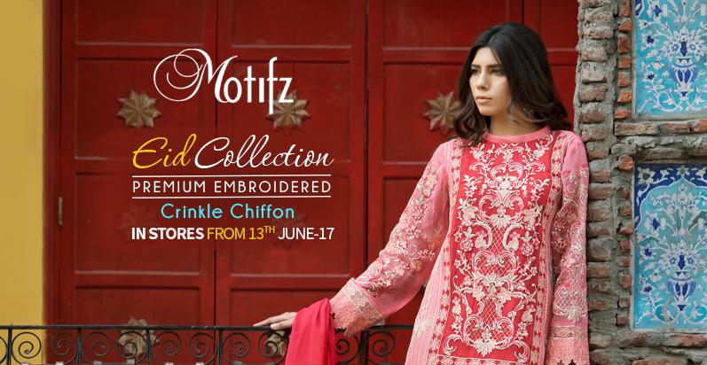 Motifz Eid Crinkle Chiffon Dresses 2017-2018