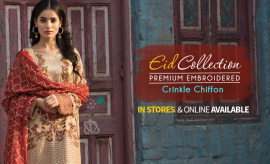 Motifz Embroidered Crinkle Chiffon & Luxury Pret Eid Collection 2017