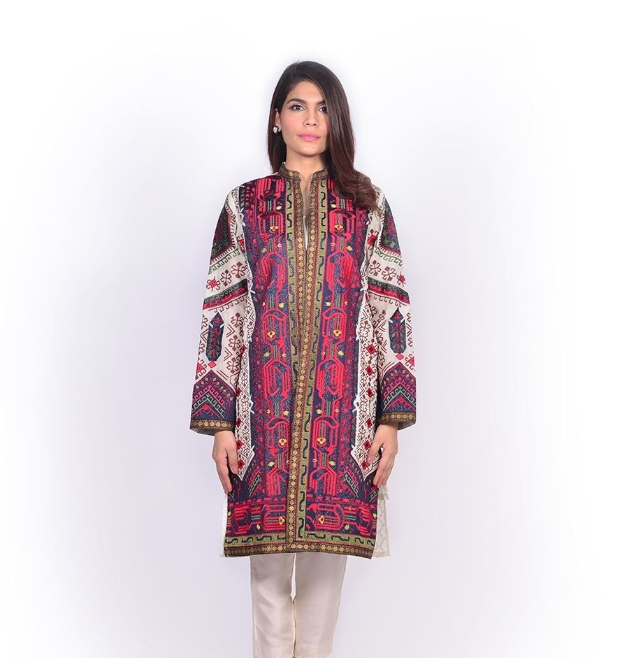 Sana Safinaz Heavily embroidered jacket for Eid
