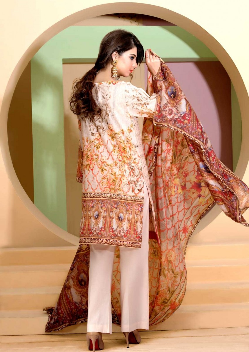 Floral Digital printed Eid design by Warda