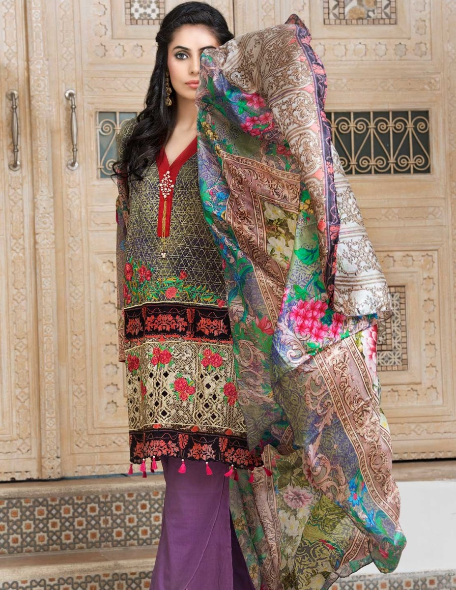 Warda festival lawn three piece suit
