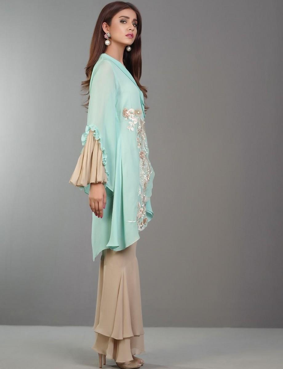 Zainab Chottani DAZZLE IN AQUAMARINE RTW Eid Dress