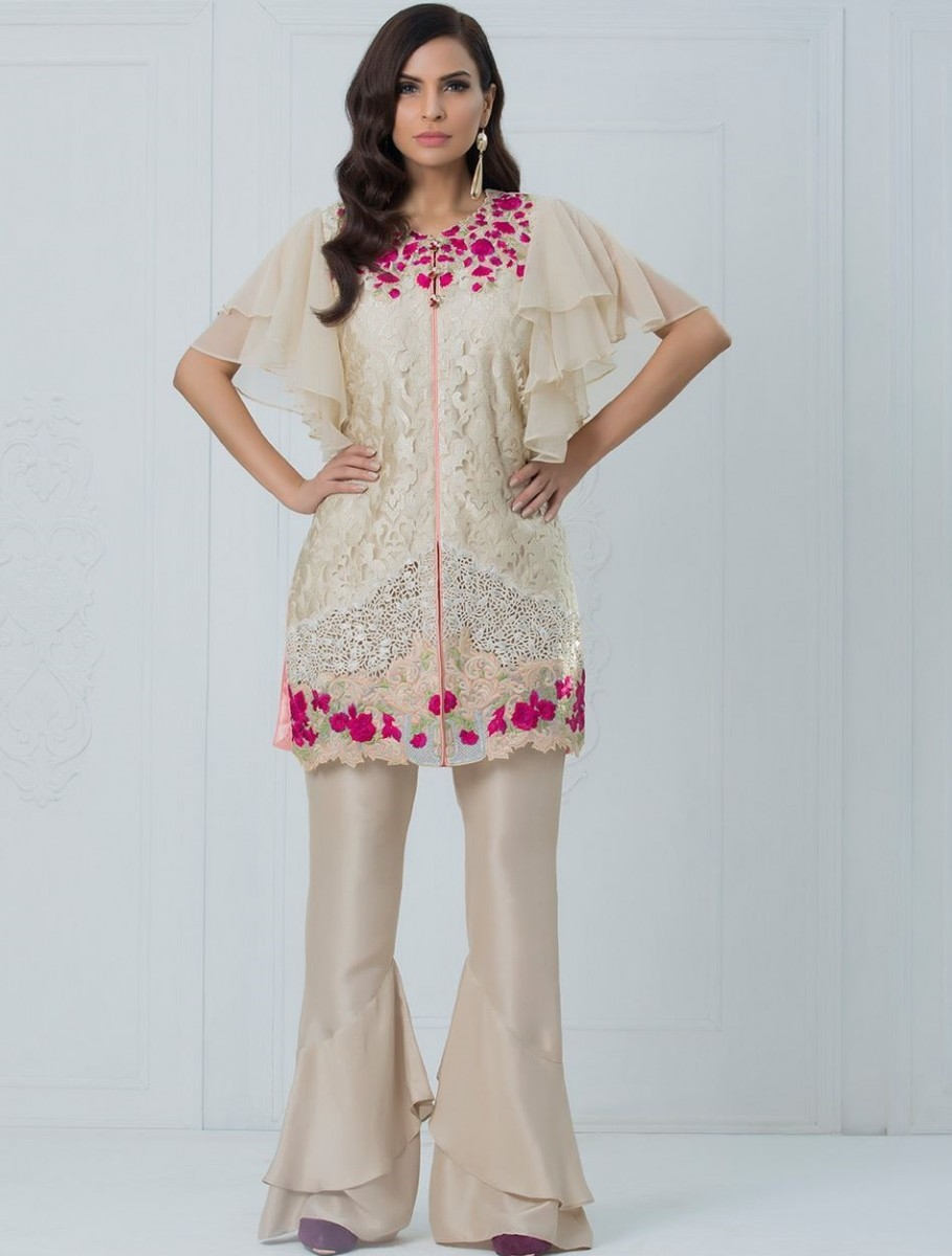 Zainab Chottani Front Open formal eid dress with fancy embroidery