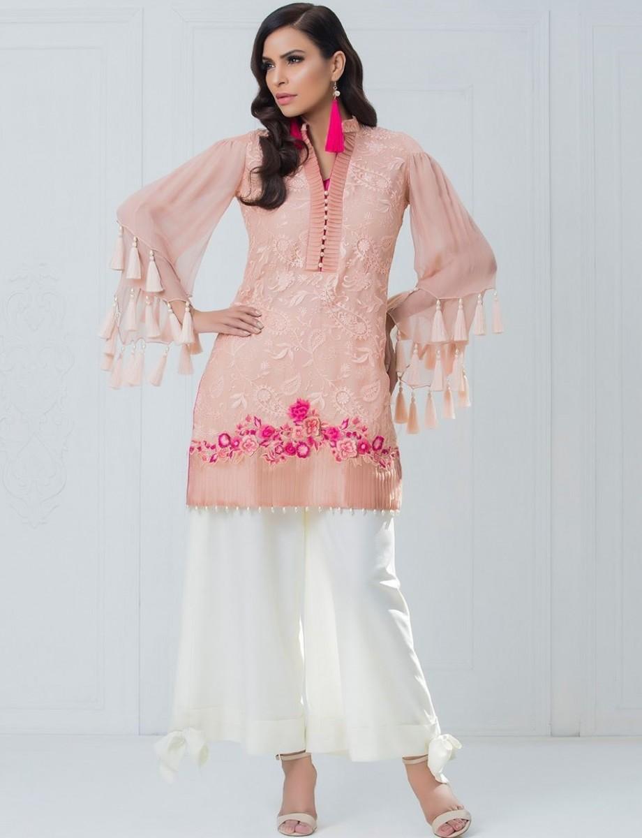 Zainab Chottani PEACH PETALS ready-made eid outfit