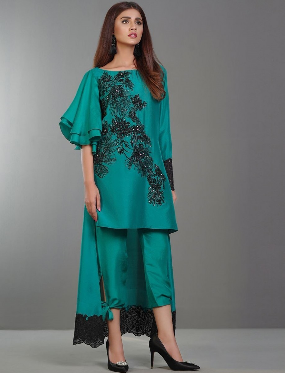 Luxury Regale Emerald Royal Eid Outfit by Zainab Chottani