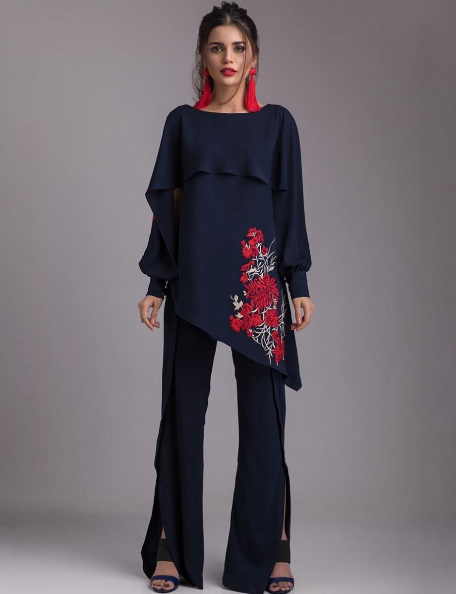 NAVY BLUE SERENITY chic Eid dress by Zainab Chottani