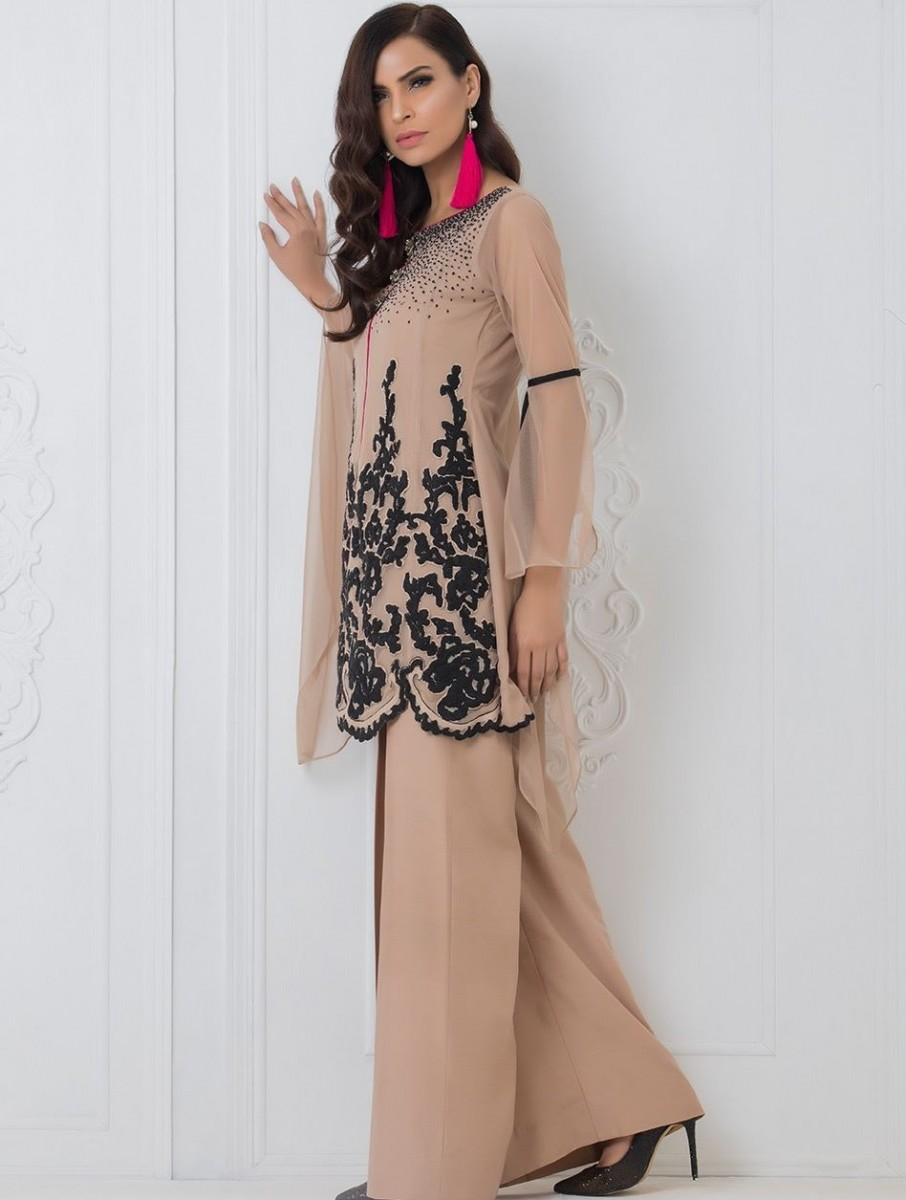 CARAMEL COUTURE embroidered festive dress by Zainab Chottani