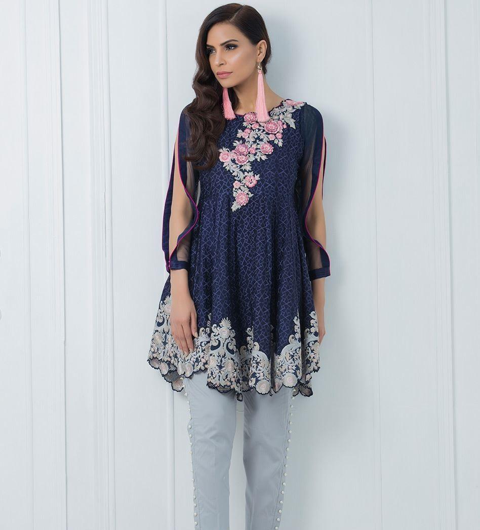 Zainab Chottani navy blue peplum for Eid