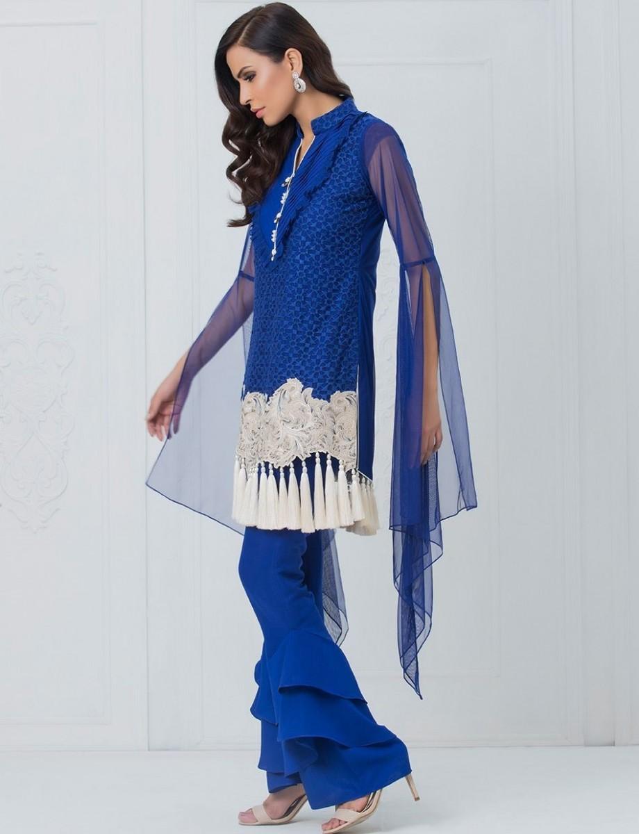 COBALT CHIC royal blue eid attire by Zainab Chottani