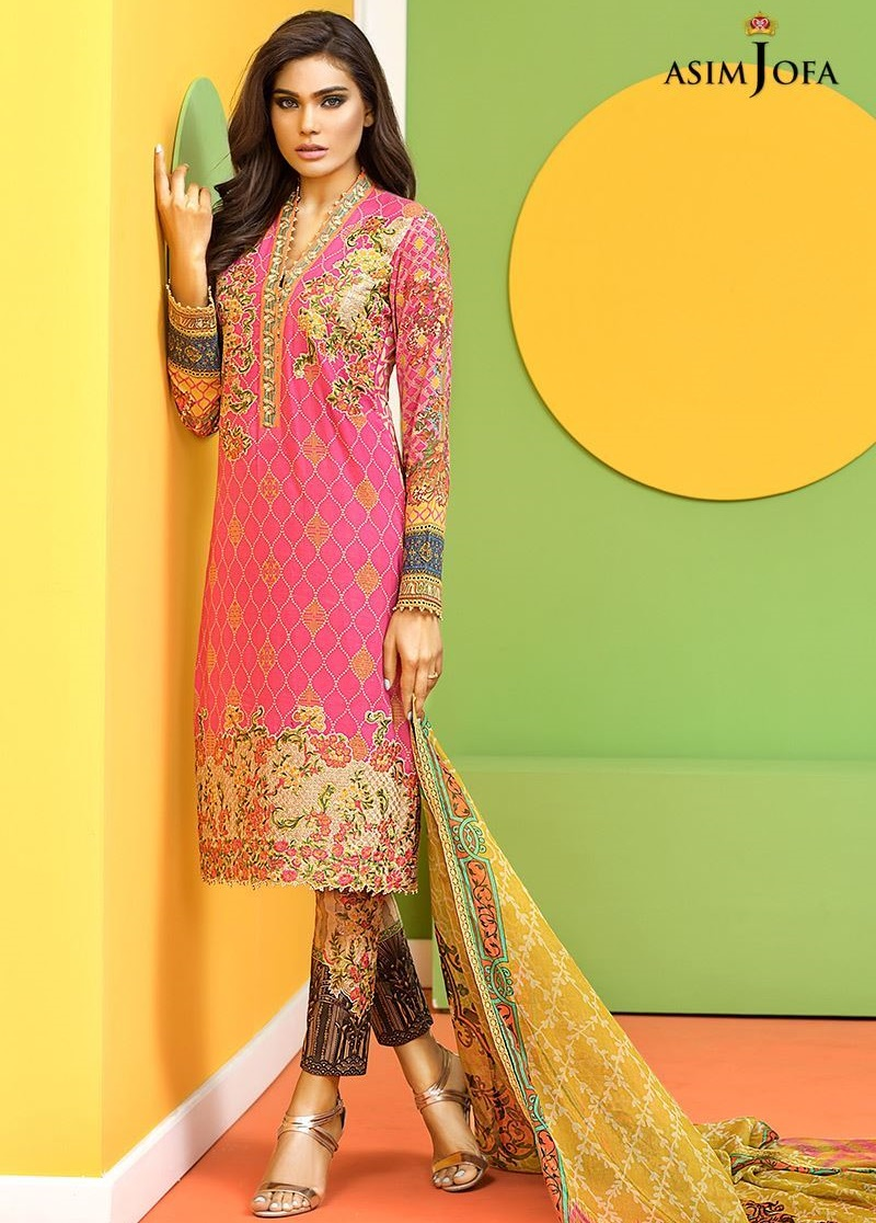 Asim jofa embroidered eid dress