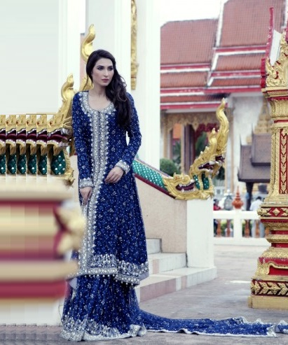 Mariam Bukhari Bridal dress in blue