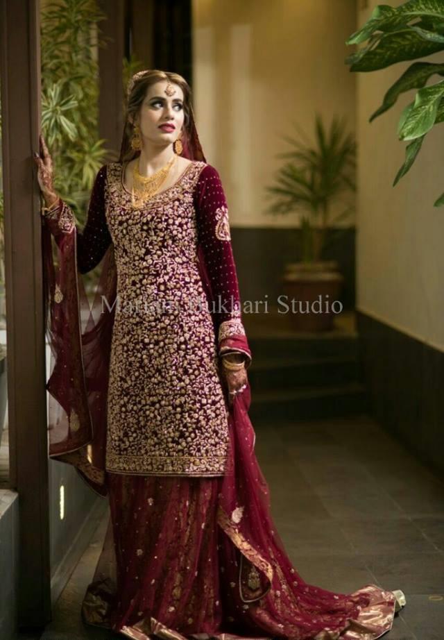 Fancy Bridal dress by Mariam Bukhari