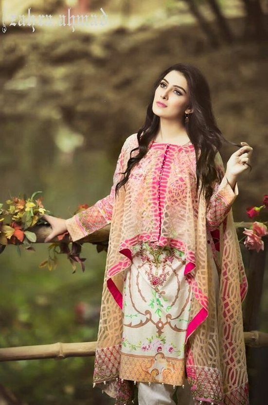 Aiza Khan wearing Cape Style Dress by Zahra Ahmad