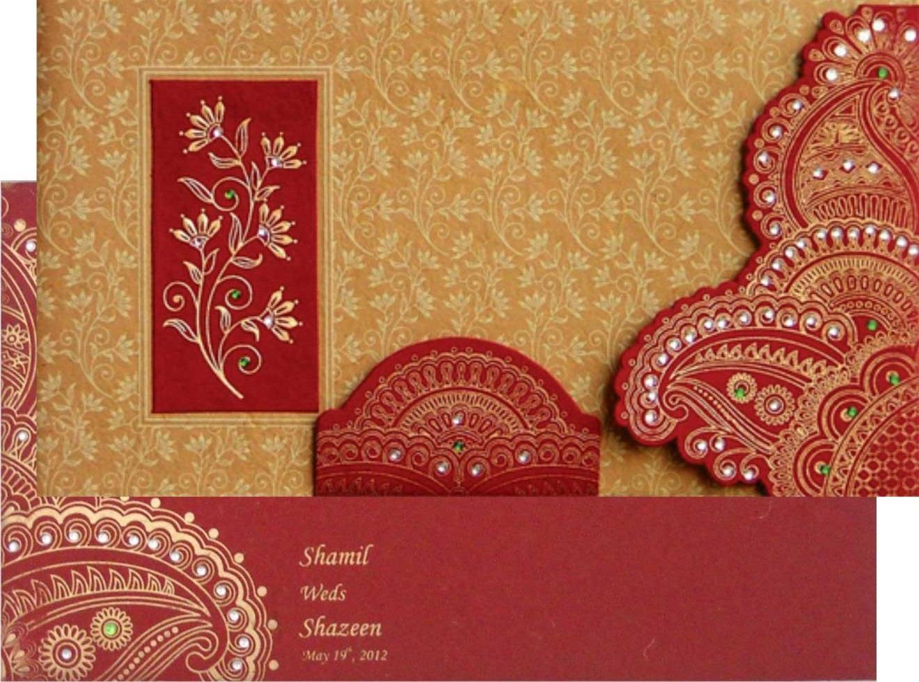 Fancy wedding invitation card