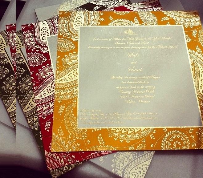 Unique idea of wedding invitation card