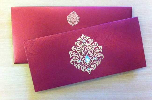 Fuchsia Pink wedding card