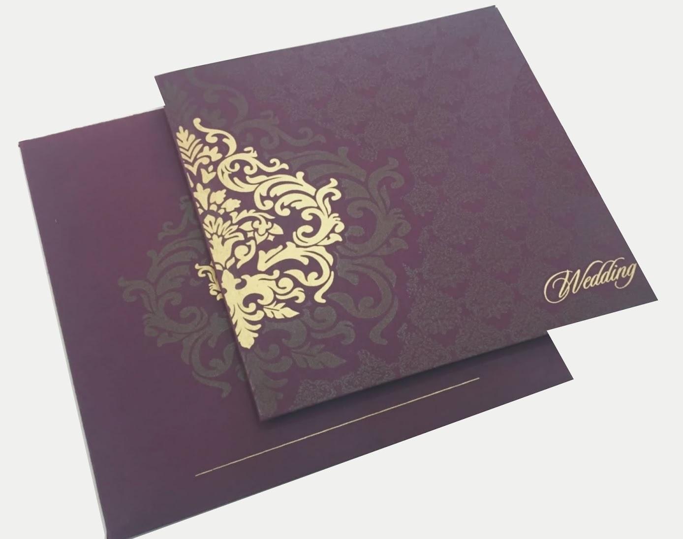 Indigo wedding card design