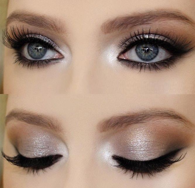Makeup ideas for beautiful grey eyes