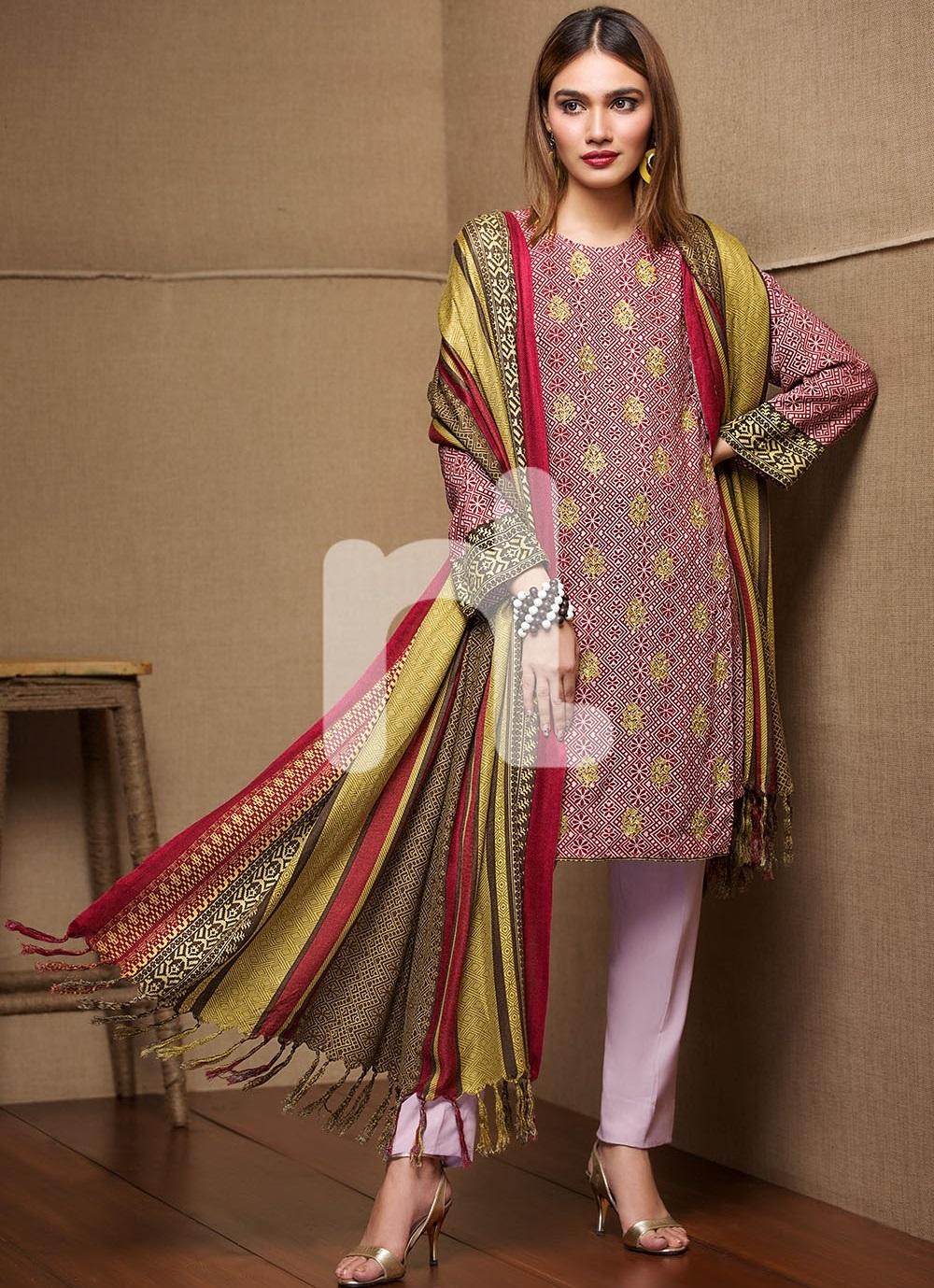 Nishat linen beautiful winter dress