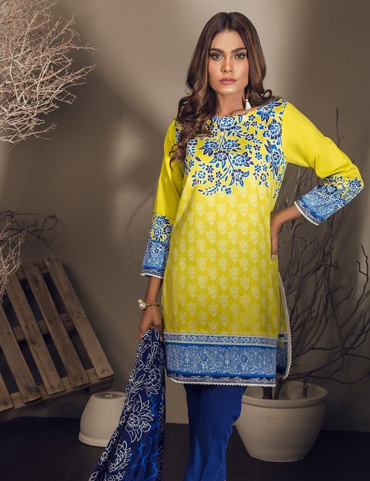 Orient textiles bright yellow Cottel suit for winter