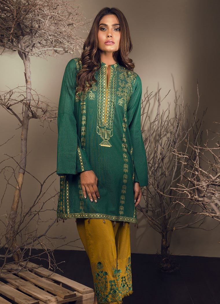 Green winter suit by Orient textile