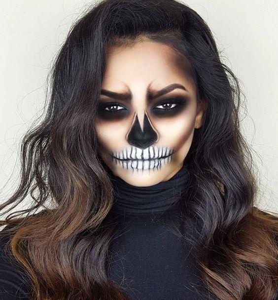 Skull makeover for Halloween