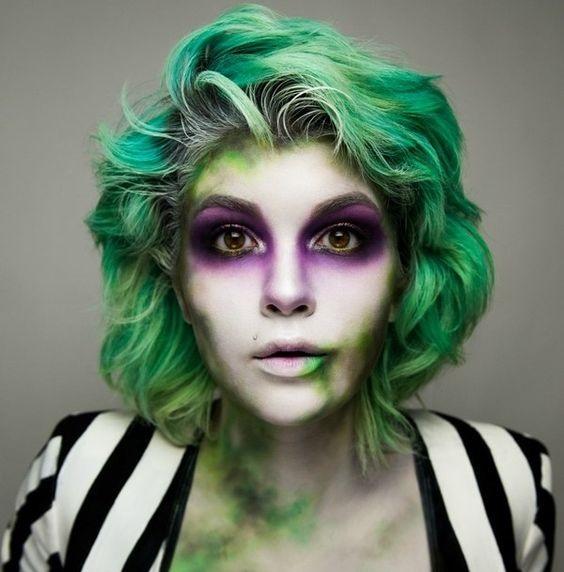 Green Joker look for Halloween