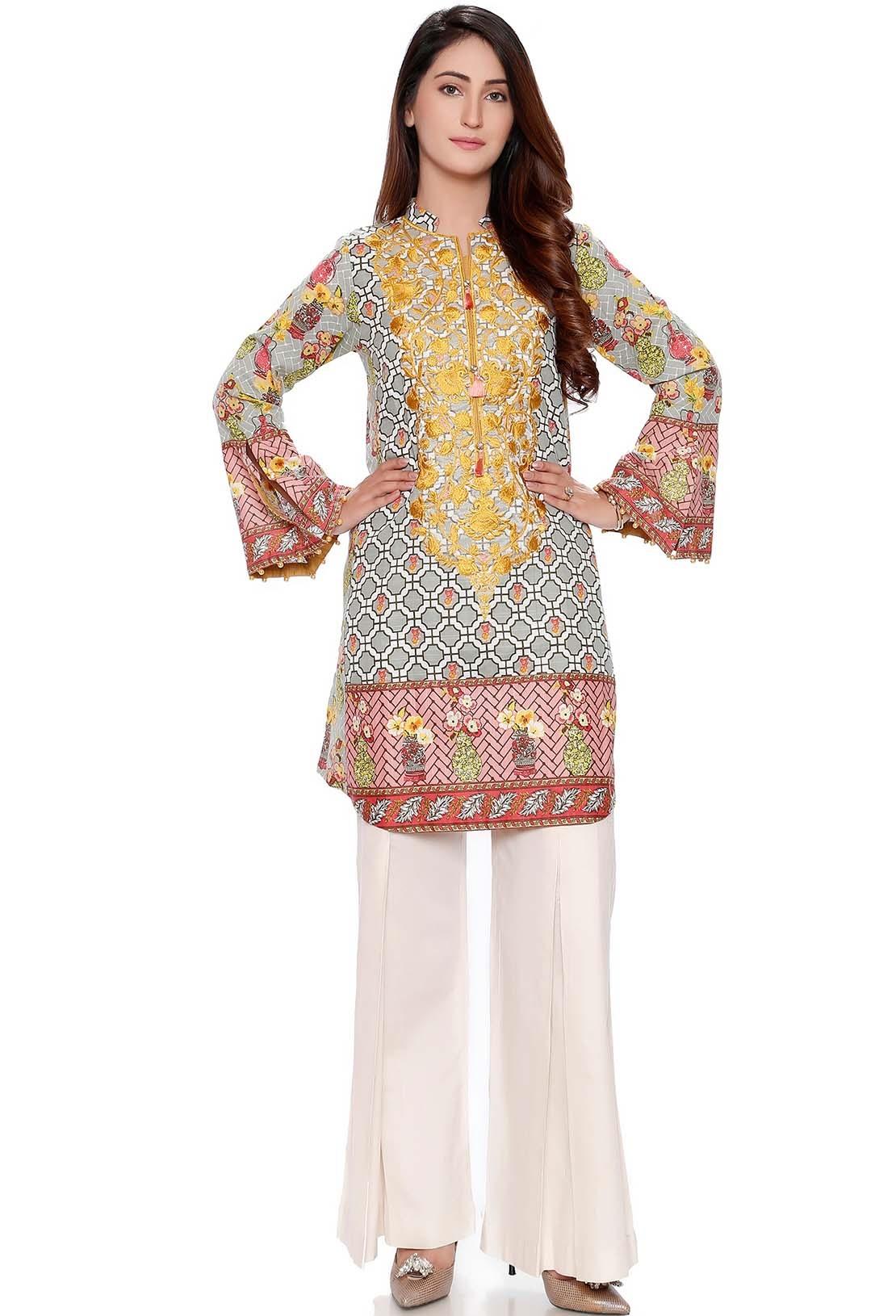 Warda designer embroidered khaddar shirt for winter