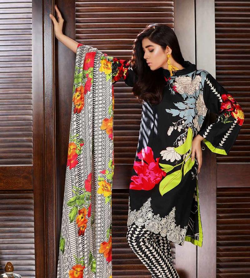 Charizma colorful printed winter dress