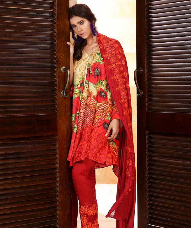 Desi Red winter outfit for ladies